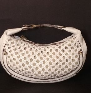 Cole Haan White Woven Small Purse